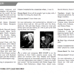 Interview in the New York City Jazz Review Magazine