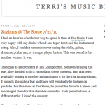 Terri's Music Blog from a concert at the Stone